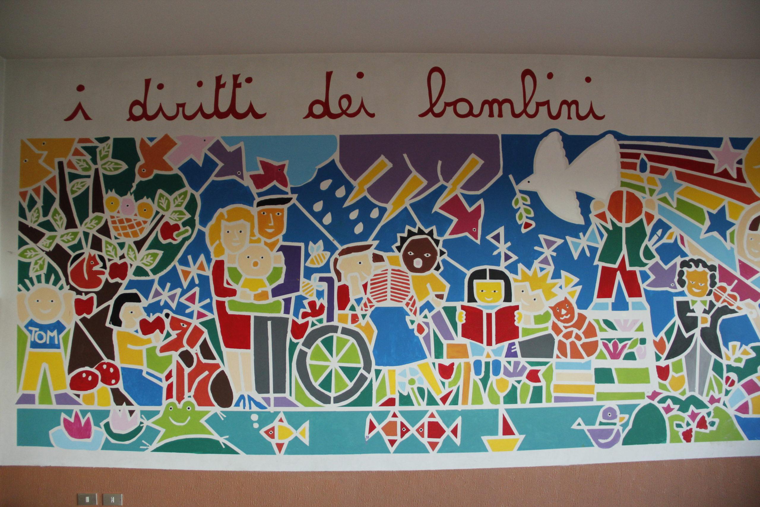 Murales interno della scuola primaria di Montevecchia
